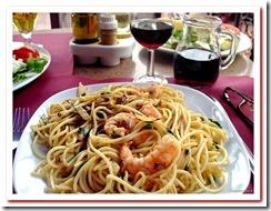 Garlic Spagheti & Prawns