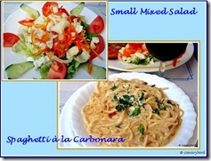 Carbonara & Salad