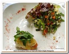 Cod Toast & Salad em