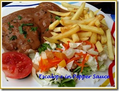 Escalope in Pepper Sauce