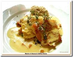 Risotto & Cherne in Saffron Sauce em